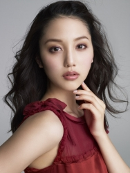 Ms. Arine is a very beautiful & elegant Japanese & Asian beauty fashion model, she is 173 cm, she is tall and slender, she is dressed in red.